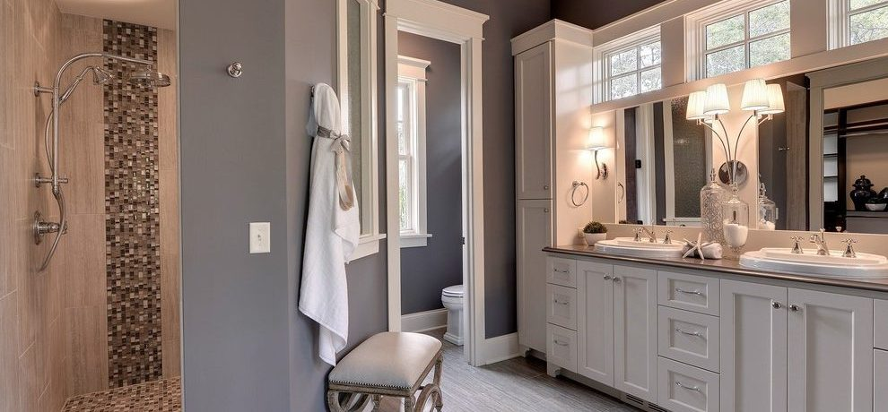 Bathroom drop in shower Traditional Inver Grove Heights with kitchen and bath fixture showrooms retailers bathroom paint color ideas