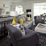 Minneapolis pharmacy task floor lamp Living Room Traditional with window treatment professionals grey and yellow