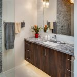 San Diego travertine colors Bathroom Contemporary with kitchen and bath fixture showrooms retailers honed subway tile