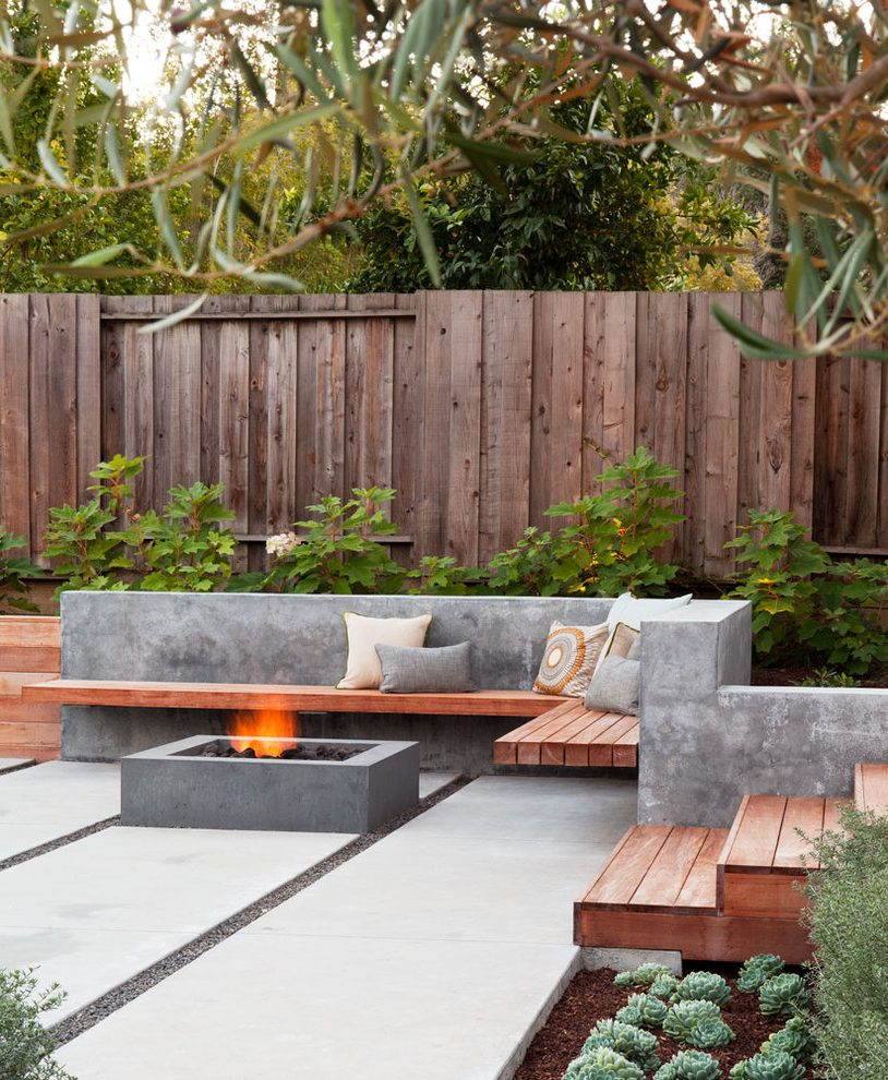 San Francisco bench Patio Contemporary with landscape ... on Modern Small Patio Ideas id=95224