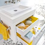 San Francisco contemporary white nightstands Bathroom Contemporary with stone and countertop manufacturers showrooms bathroom
