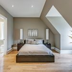 Toronto dark wooden floors Bedroom Contemporary with bedding and bath manufacturers retailers gray paint basement ideas