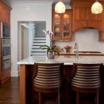 Atlanta island with sink Kitchen Traditional kitchen and bathroom remodelers cherry cabinets
