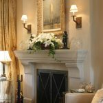 Los Angeles fireplace mantels with tv above Bedroom Traditional window treatment professionals mantel decorating ideas