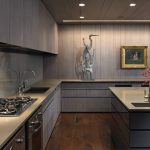 Chicago painting cabinets gray Kitchen Contemporary with kitchen and bath fixture showrooms retailers painted backsplash