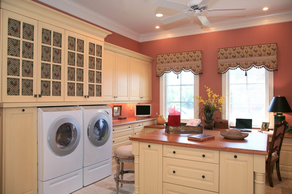 pretty laundry room paint colors laundry room traditional on paint for laundry room floor ideas images id=85146