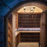 New York antique wine jugs Wine Cellar Traditional with cellar designers and builders leather top traditional desks