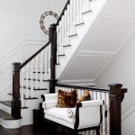 New York white fluffy pillows Entry Traditional with door dealers and installers basement stairs