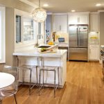 San Francisco white marble carrara Kitchen Contemporary with kitchen and bathroom remodelers wine fridge under counter