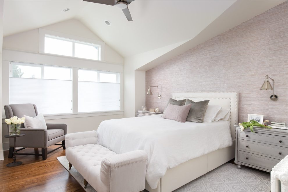 Seattle white and purple bedroom Bedroom Transitional with window dealers installers maroon ideas photos