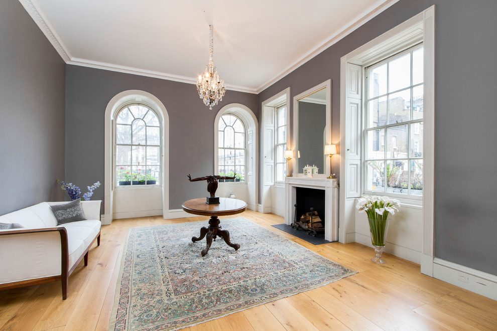 London taupe wall paint Living Room Transitional with chimney cleaners grey living room