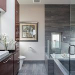 Extraordinary tatami tile Contemporary Bathroom in Seattle with floor tiles modern bathroom ideas and eat kitchen