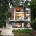 Wonderful rustic outdoor lighting Contemporary Exterior in Seattle with stairs and