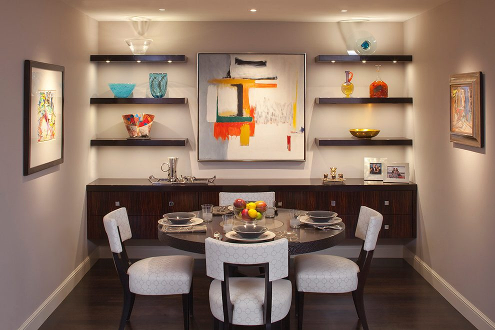 Lovely dining wing chair Contemporary Dining Room in San Francisco with billy haines chairs and upholstered
