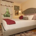 Pretty grid tufted headboard Master Bedroom Traditional in with white side table and Ethan Allen bed