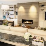 Splendid living room cabinet designs Contemporary Living Room in Vancouver with recessed lighting and to-