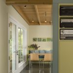 Awesome blue and green design Kitchen Storage Wall with Breakfast Nook Beyond Modern in Dining Room pillows
