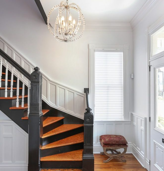 Dishy wainscoting staircase in with and railing professionals closet designers professional organizers