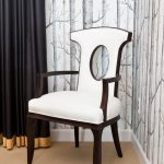 Light Gray And High Contrast Black And White Chairs Curtains Draperies Chandelier Dining High Contrast Leather Chair Light Gray Woods Wallpaper