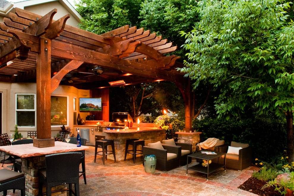 Denver Covered Outdoor Patios Traditional Patio Bar ... on Fancy Outdoor Living id=14757