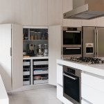 Awesome Flat Top Gas Kitchen Modern With Organized Space And White Kitchen Design Bifold Cabinet Doors Ceiling Mounted Hood Fan Corian Large Island Bench Top Floor To Cabinets Gas Range In Kitchen