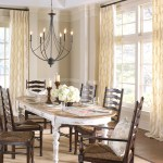 Beautiful Drapery Fabric Remnants Dining Room Farmhouse with Curtain Panels Chandelier Euro Pleat Custom Curtains Window Treatment Place Setting Window Pleated Cutains Table