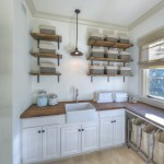 Dishy Glass Bath Canisters Laundry Room Beach Style With Pendant Light And Raised Panel Cabinets Apron Sink Caged Light Clothes Sorting Fabric Roman Shade Farm House Glass Canisters Industrial Metal