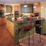 Good-looking Knotty Pine Kitchen Cabinets Kitchen Traditional With Large Kitchen Island And Wood Cabinets Black Countertop Granite Green Cabinets Iron