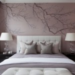 Awesome Cherry Blossom Wall Decal For Nursery Bedroom Transitional With Cherry Blossoms And White Headboard Black Brown Furniture Frames Blush Walls