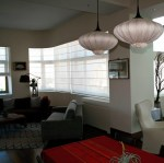 Awesome Sheer Roman Shade Living Room Asian with Shades Grey Armchair Great Room Window Open Floor Plan Gray Custom Pink Pendant Light Large