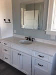 Blooming Seaside Bathroom Ideas Bathroom Beach Style with Marble Counter Coastal Cottage Coastal Master Vanity White Design Home