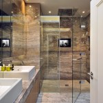 Impressive Bathroom Travertine Tile Design Ideas Bathroom Contemporary With Recessed Lights And Shower Room Bathroom Doors Bathroom Tv Floor To