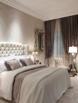 Lovely Curtains Cream Bedroom Traditional with Period Property Beige Bedding Sheer Ornate Mirror Textured Wall Guest Bedroom White Brown Neutral