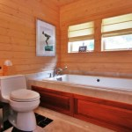 Marvelous Wood Paneling Bathroom Bathroom Traditional With Beige Tile Tub Surround And Tongue And Groove Pine Paneling Beige Marble Floor Roman Shade