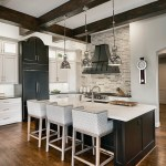 Splendid Square Pendant Light Kitchen Transitional With Glass Cabinets And Wood Beams Black Hood Kitchen Island Glass Cabinets Lighting Modern Faucet