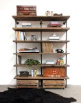 Astonishing Drawer Unit On Casters Living Room industrial with Loft Style Wood Shelving and Storage System Urban industrial Reclaimed Scaffold Bespoke