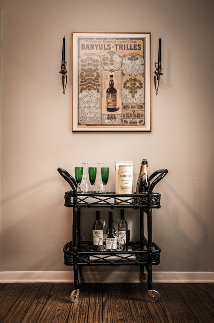 Blooming Brass Bamboo Bar Cart Dining Room Transitional With Brass Wall Candlesticks And Eclectic Design 1910 House Austin Interior Decorating Design