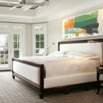 Blooming Dark Gray Walls Bedroom Traditional With Master Bedroom And White Molding Beige Bedding Carpet Headboard Wall Ceiling Fan Clean Lines