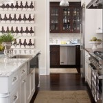 Blooming Pictures Of Butlers Pantry Traditional Chalet Interiors With Marble Countertop And Crown Molding Crown Molding Dark Stained Wood Floor