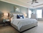Delightful Monogrammed Shams Bedroom Transitional with White Flowers Cream Tufted Headboard MIRRORED BEDROOM FURNITURE Euro Sham Glass Lamp Base Quilted Bedding Decorative Mirror Mirrored