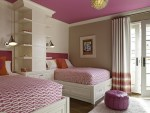 Glorious Benjamin Moore Bedrooms Bedroom Transitional with Pink Bedding Wall Lighting Under Bed Storage Teenager Girls Bedroom Shared Ceiling Swing Arm Lamp Decor Bookshelves Throw