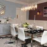 Marvelous Pier One Dining Room Table Dining Room Modern With Black Dining Table And Gray Buffet Table Beige Door Molding Wainscoting Black Dining
