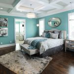 Awesome Sherwin Williams Amazing Gray Bedroom Traditional With Master Bedroom And Coffered Ceiling Bedroom Bench Blue Throw Pillow Bright Wall