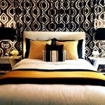 Beautiful Black And White Damask Drapes Bedroom Contemporary With Chrome And Black Lamps And Black And White Beautiful Bedroom Bedding Ideas Black And