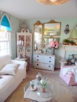 Good-Looking Decorative Hanging Bird Cages Chic Style Shabby with CEILING LIGHT Stained Glass White Distressed Paint Plant Pots Corner Hutch File Cabinets Gilt Mirrors Fireplace Mantle Frames