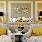 Pretty Pale Yellow Curtains And Drapes Bedroom Contemporary With Wall Details And Table Lamps Night Stands Printed Curtains Side Table Lamps Wall