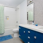 Sparkling Blue And Green Bathroom Bathroom Contemporary With Santa Cruz Remodel And Honeycomb Tile Blue Cabinets Vanity Custom Cabinets Electric
