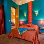 Astonishing Moroccan Hanging Lights Bedroom Southwestern With Turquoise Walls And Bright Colors