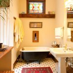 Blooming Toto Promenade Sink Bathroom Victorian With Freestanding Tub And Small Persian Rug BLACK