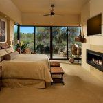 Imaginative Giraffe Bedroom Southwestern Singular Space, 1st Place With Fireplace Wall And Brown